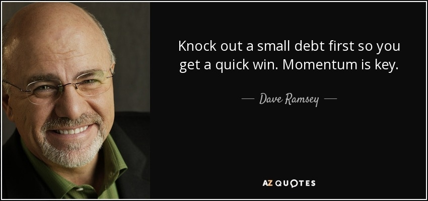 Dave Ramsey Quote on Small Debt